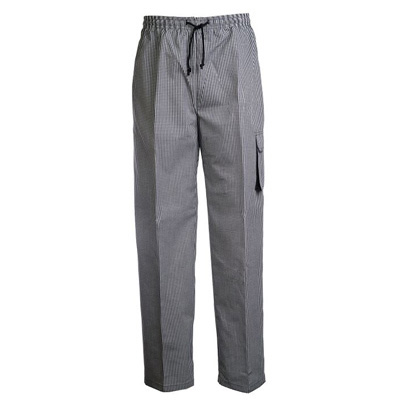 (SKU: CP060) Unisex Chefs Check Drawstring Cargo Pant