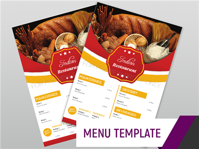Menu Template - Indian
