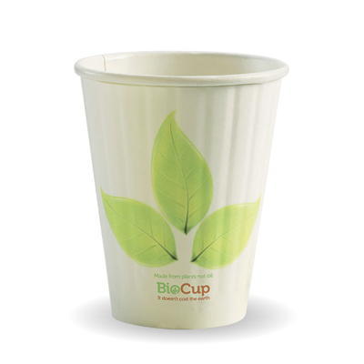 (SKU: BC-8DW80mm) BioCups 8oz Double Wall Leaf Cups 80mm