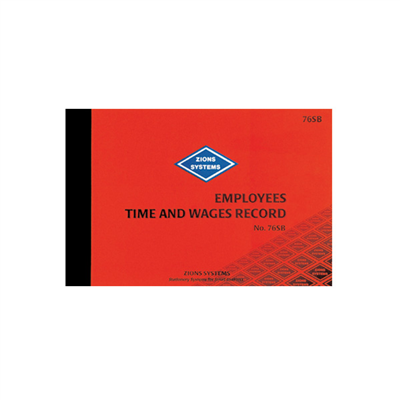 (SKU: 76SB) Employees Time & Wages Record