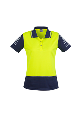 (SKU: ZHL236) Womens Hi Vis Zone Polo