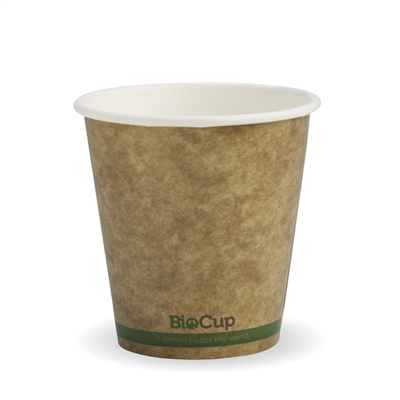 (SKU: BCK-6-GS) BioCups 6oz Single Wall Green Stripe 80mm