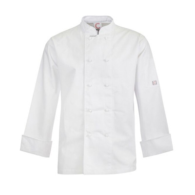 (SKU: CJ031) Classic Chefs Jacket - Long Sleeve Black & White