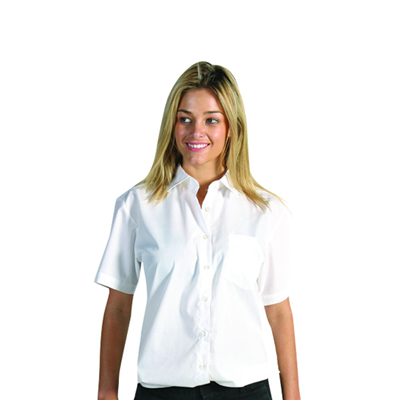 (SKU: 4201) Ladies Polyester/Cotton Poplin Shirt - Short Sleeve