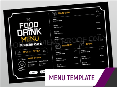 Menu Template - Modern Cafe