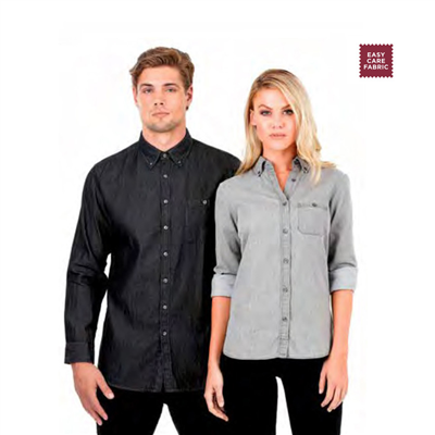 (SKU: W48) Mens Denim Shirt - Dylan Long Sleeve