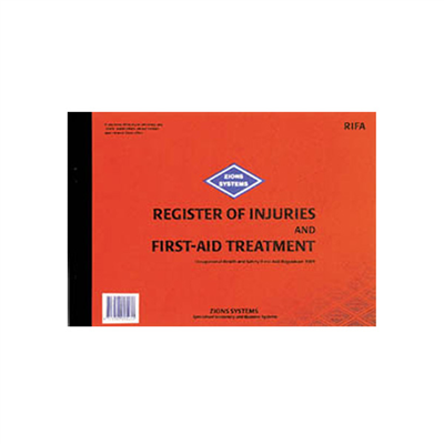(SKU: RIFA) Register of Injuries and First-Aid Treatment