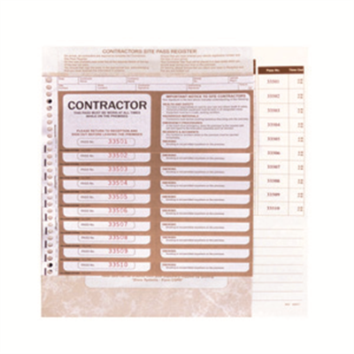 (SKU: CSPR) Contractors Site Pass Register
