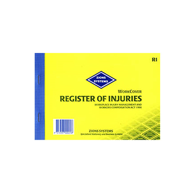(SKU: RI) Register of Injuries (NSW)