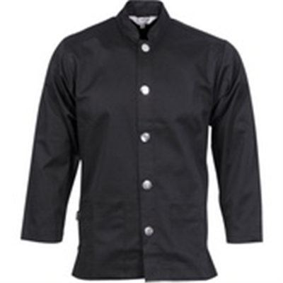 (SKU: 1202L) **CLEARANCE** WAITER'S JACKET L/S BLACK SZ LARGE