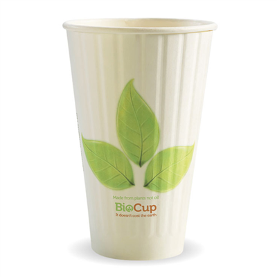 (SKU: BC-16DW) BioCups 16oz Double Wall Leaf Cups