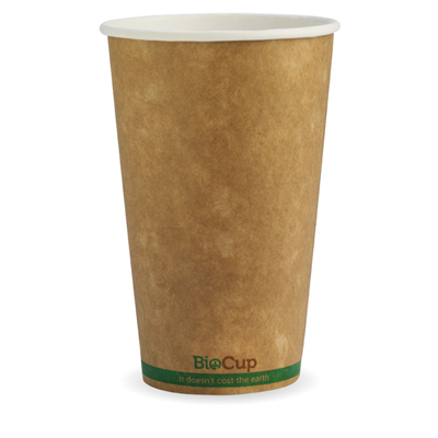 (SKU: BCK-16-GS) BioCups 16oz Single Wall Green Stripe