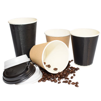 (SKU: 101602) 12oz Double Wall Coffee Cups