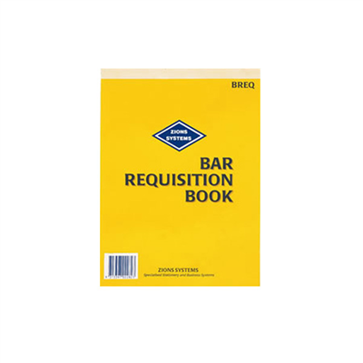 (SKU: BREQ) Bar Requisition Book