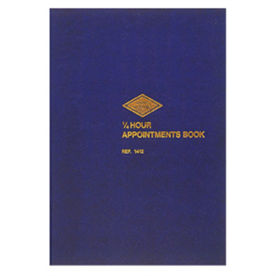 (SKU: 1412) 1/4 Hour Appointment Book