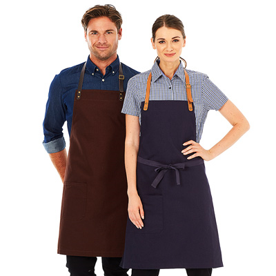 (SKU: Luca A20) Canvas Apron - Bib with Neck Strap - Luca Apron