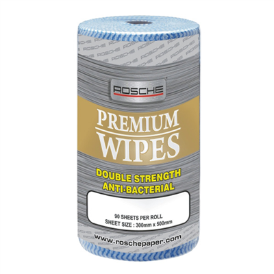 (SKU: 6800DAB) Premium Wipes Double Strength Anti-Bacterial (Box of 4 Rolls)