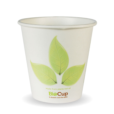 (SKU: BC-6) BioCups 6oz Single Wall Leaf Cups 80mm