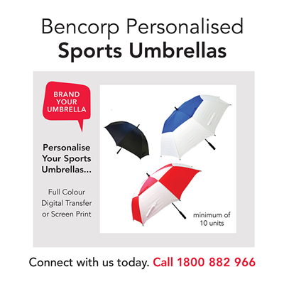 (SKU: UMBRELLAS) Sports Umbrellas - Personalised
