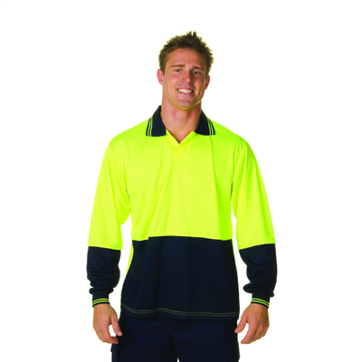 (SKU: 3904) HiVis Two Tone Food Industry Polo - Long Sleeve