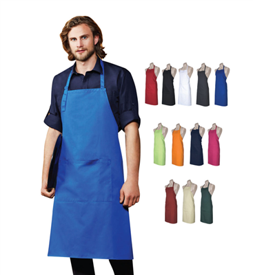 (SKU: BA95) Bib Apron - Unisex Apron with Self Straps and 13 Colours