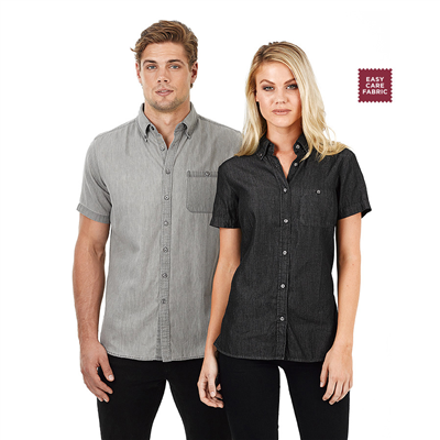 (SKU: W51) Ladies Denim Shirt - Dylan Short Sleeve
