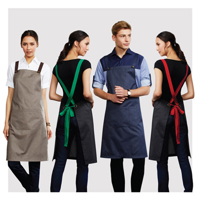 (SKU: BA55) Unisex Urban Bib Apron - Denim Look
