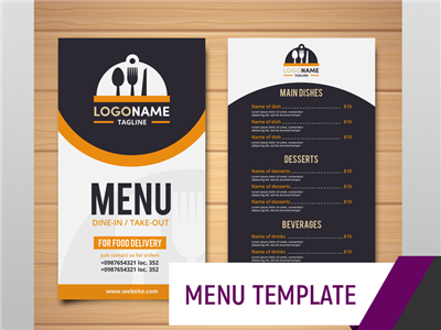 Menu Template - Groovy Cafe