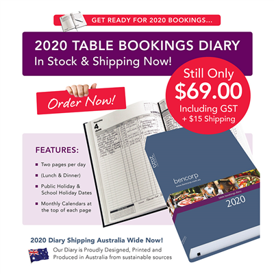 (SKU: RCD20) 2020 Restaurant and Catering Table Bookings Diary
