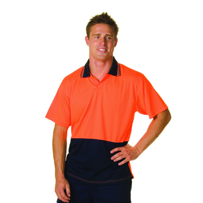(SKU: 3903) HiVis Two Tone Food Industry Polo - Short Sleeve