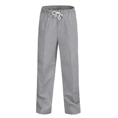 (SKU: CP050) Unisex Chefs Check Elastic Drawstring Pant