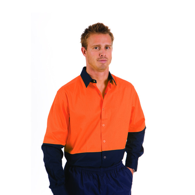 (SKU: 3942) HiVis Cool Breeze Food Industry Cotton Shirt - Long Sleeve