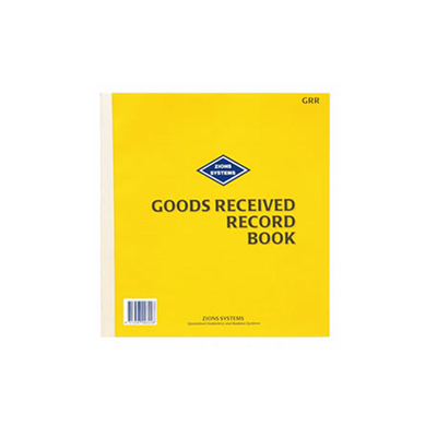 (SKU: GRR) Goods Received Record Book