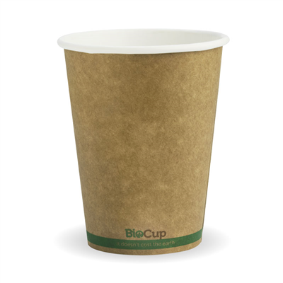 (SKU: BCK-12-GS) BioCups 12oz Single Wall Green Stripe
