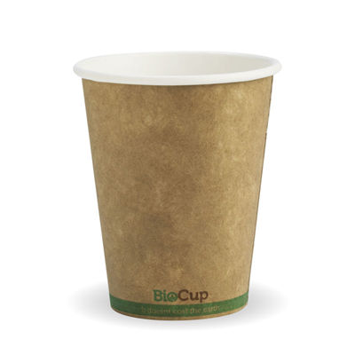 (SKU: BCK-8-GS) BioCups 8oz Single Wall Green Stripe 80mm