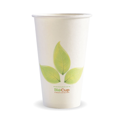 (SKU: BC-16) BioCups 16oz Single Wall Leaf Cups