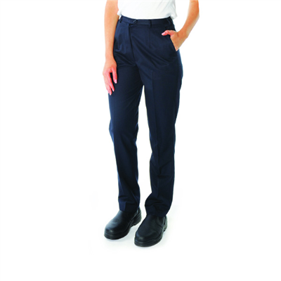 (SKU: 4552) Ladies Polyester/Viscose Flat Front Pants
