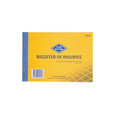 (SKU: ROID) Register of Injuries (VIC)