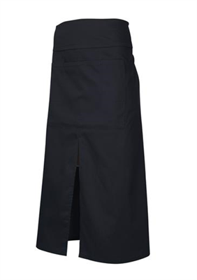 (SKU: BA93) Black Continental Apron