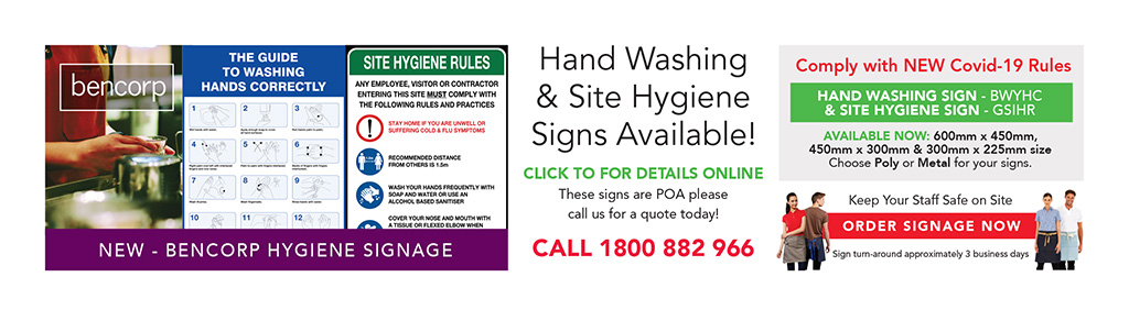 Site Hygiene & Hand Washing Sign - POA