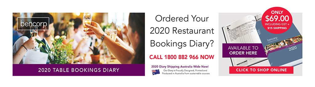 2020 Table Bookings Diary